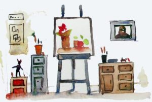 elaborate artist studio