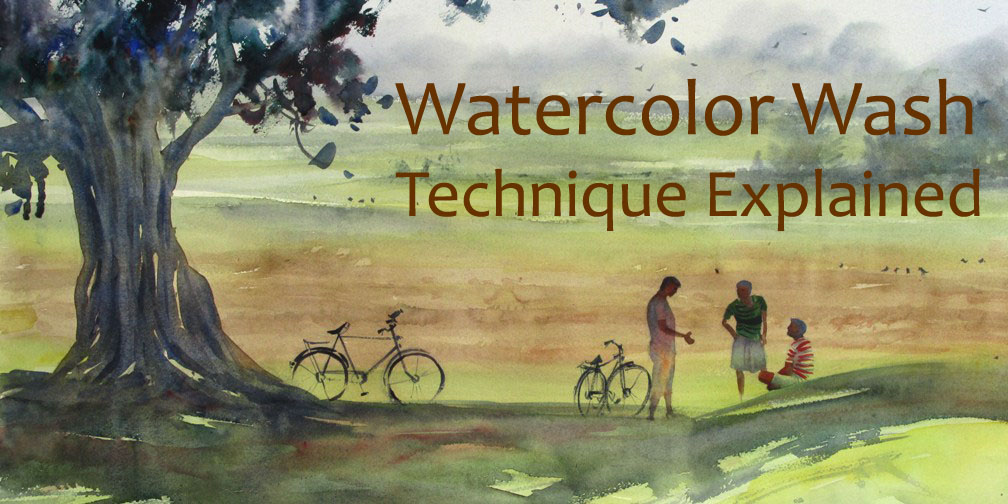 watercolor wash technique