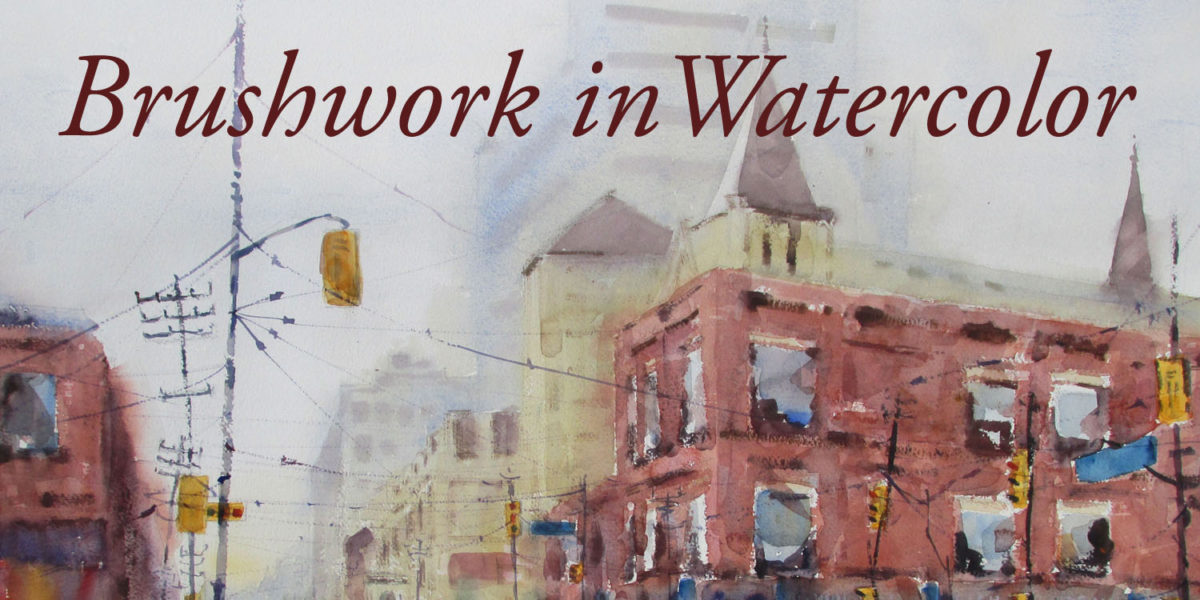 Brushwork in watercolor painting