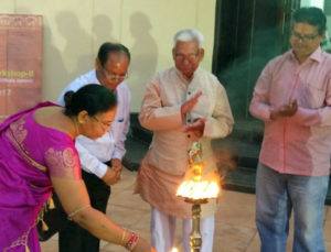 Lamp lighting ceremony from my last art exhibition
