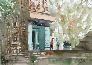 En plein air Mausima temple, Bhubaneswar