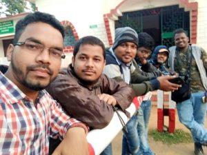 The sketchers of Bhubaneswar Sketching Club