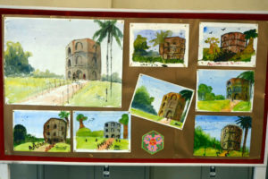 Art works created by children on Day 1