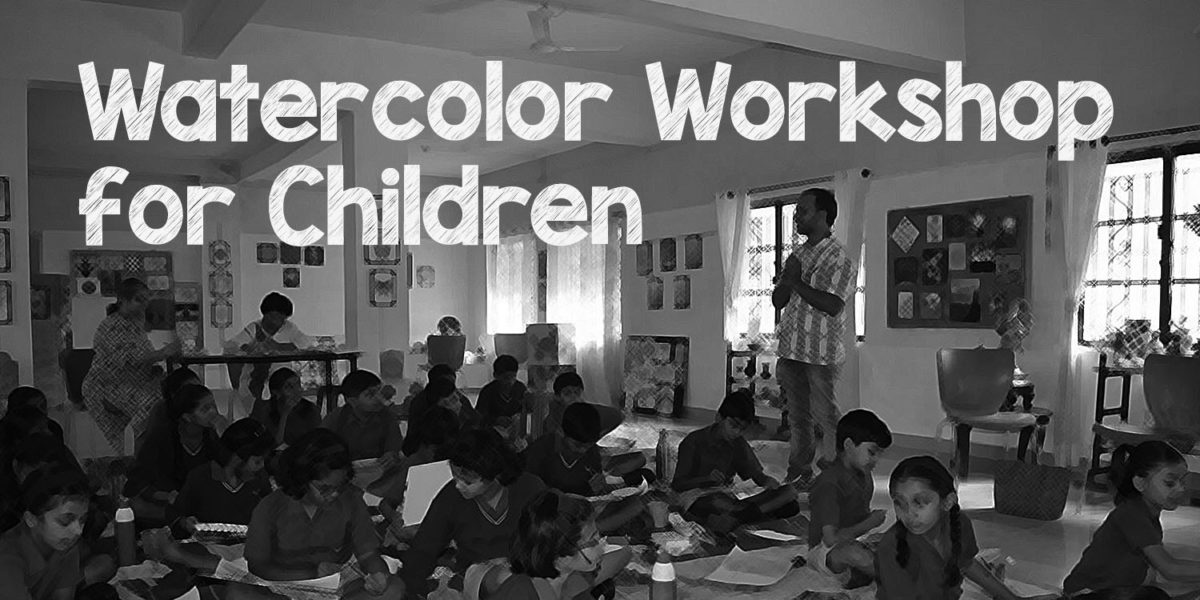 Watercolor Workshop for School Children at Ahmednagar