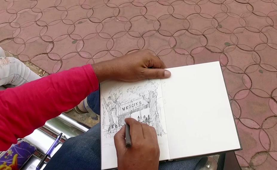 The vegies sketch