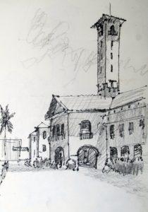 Nehru Museum Sketch