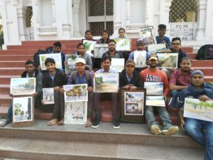 With Students of Kalayatan Art College