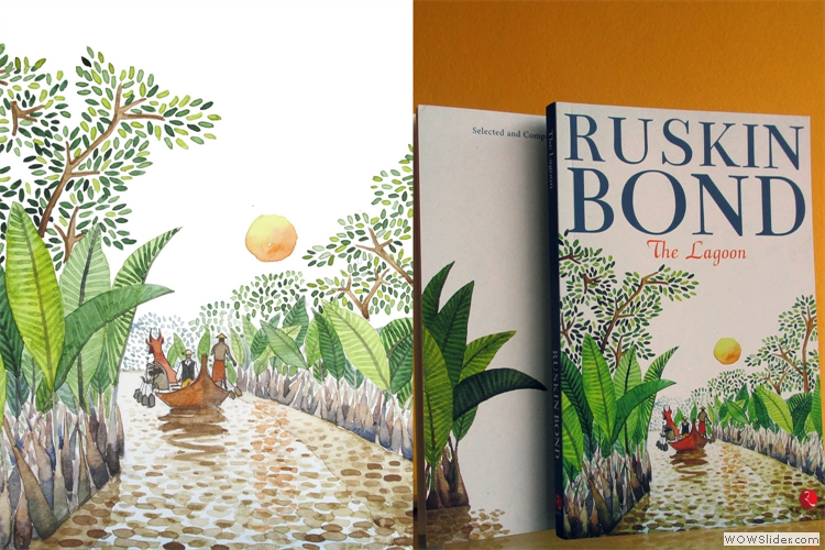 Cover Painting for Selected Stories by Ruskin Bond, The Lagoon