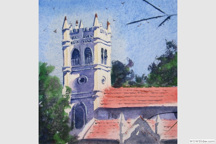 All Saints Church, Coonoor live study by Prabal Mallick